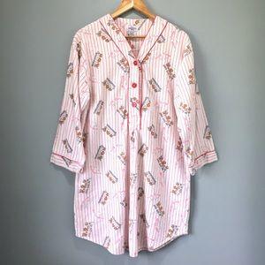 90's Vintage Sleep Shirt Baseball Bears Pinstriped